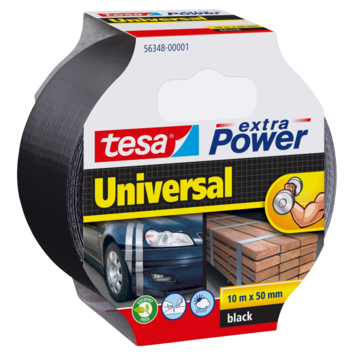 Tesa Extra Power Ruban de réparation 10 m x 50 mm noir
