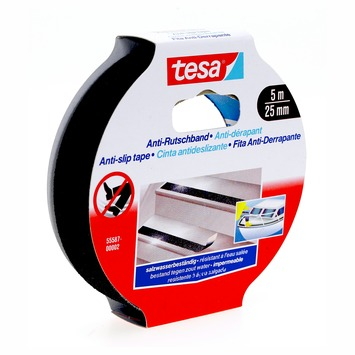 Tesa Ruban adhésif antidérapant 5 m x 25 mm noir