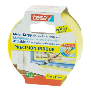 Tesa Precision Indoor afplaktape 25 m x 38 mm geel