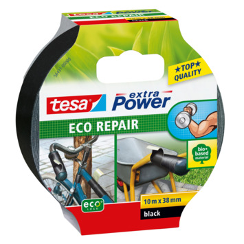 Tesa Extra Power Eco Repair reparatietape 10 m x 38 mm zwart