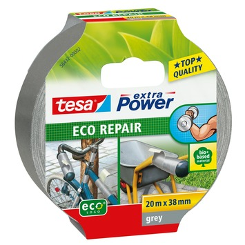 Tesa Extra Power Eco Repair Ruban adhésif de réparation 20 m x 38 mm gris