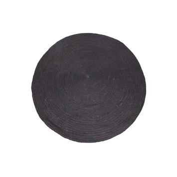 Tapis Rond En Sisal Woood 200 Cm Naturel Noir Gamma Be