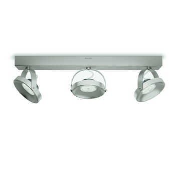 Philips Opbouwspot MyLiving Spur LED nickel 3 x 4.5W