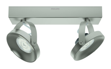 Philips duospot Spur LED 2X4.5W nikkel