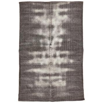 Tapis Sleets gris 100% coton 130x200 cm
