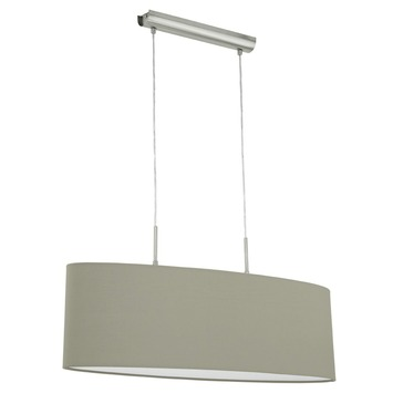 Eglo hanglamp Pasteri exclusief lamp E27 max. 2x 60 W taupe