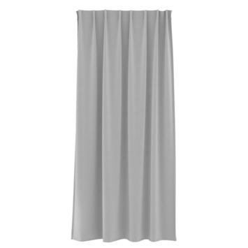 Rideau ruban fronceur GAMMA uni 1153 gris clair 140x280 cm