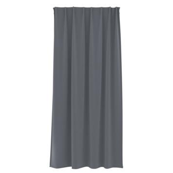 Rideau ruban fronceur GAMMA uni 1154 gris foncé 140x280 cm