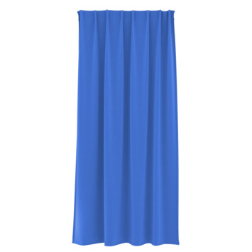 Rideau ruban fronceur GAMMA uni 1161 bleu 140x180 cm