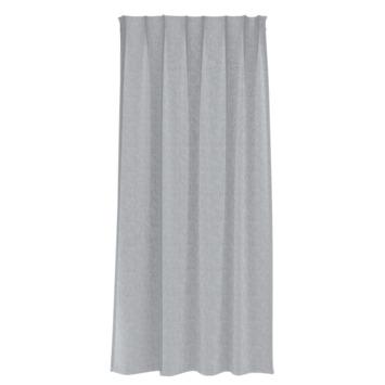 Rideau ruban fronceur GAMMA translucide 1166 gris clair 140x280 cm