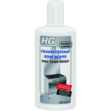 HG roestvrijstaal snel glans 125 ml