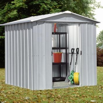Tuinhuis Deluxe Apex 65 Metaal Grijs 137x202 cm
