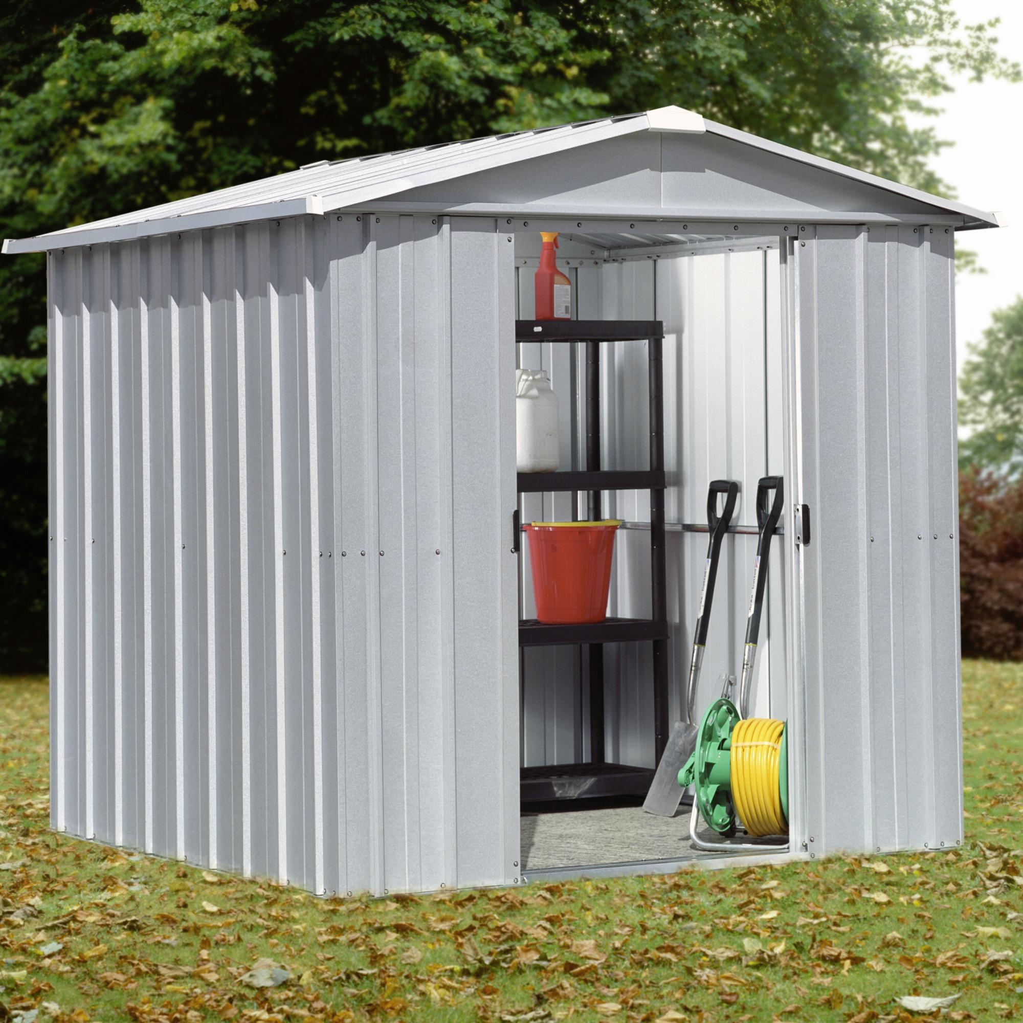 Abri de jardin en acier galvanis deluxe apex 65 cabanes for Abri de jardin acier