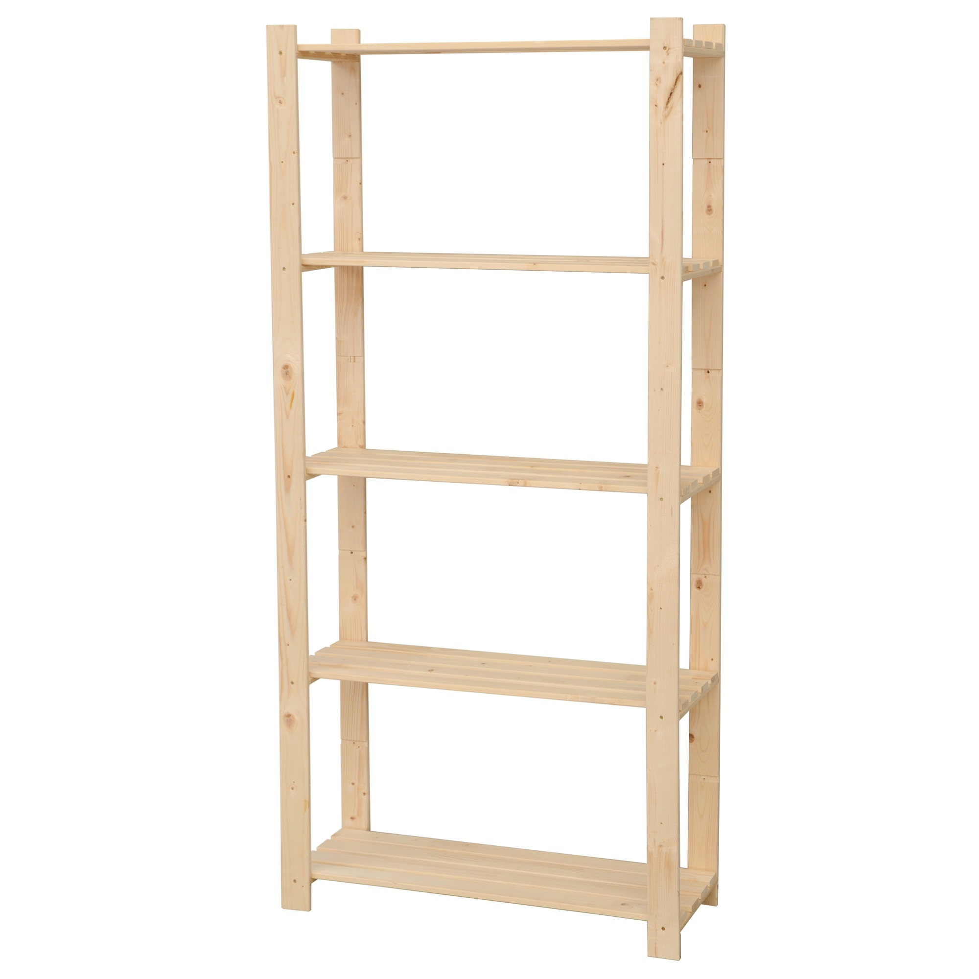 Tag re murale en bois gamma 5 tablettes 45kg tablette 170 for Peindre etagere bois