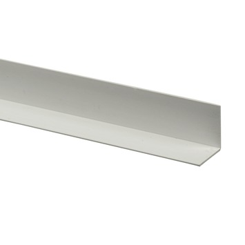 Profilé d'angle synthétique 20x20 mm 260 cm blanc