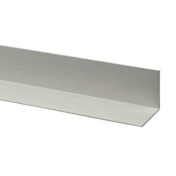 Hoekprofiel kunststof wit 25x25 mm 260 cm