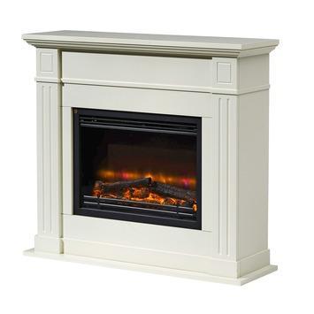 Habillage cheminée Locarno Livin' flame 90x86x30 cm blanc