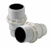 Profile soquet E14 avec anneau blanc 2 pcs