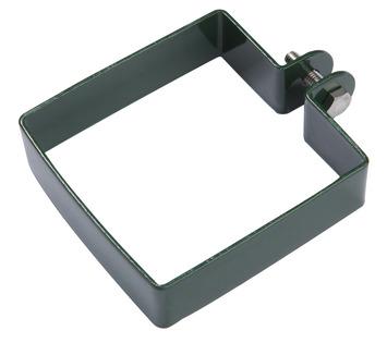 Eindklem voor vierkante paal 80x80 mm ral 6005 groen