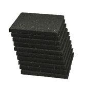 Support pour dalle 10x10x1 cm noir 10 pièces