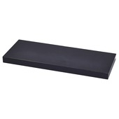 Handson wandplank 38 mm 60x23,5 cm glans zwart