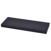 Handson wandplank 38 mm 80x23,5 cm zwart
