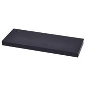 Handson wandplank 38 mm 120x23,5 cm glans zwart