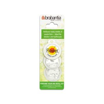 Recharge parfum pour poubelle Brabantia senteur florale 3 pièces