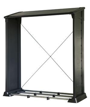 Keter rangement pour bois Firewood Shelter noir 158x61x175 cm