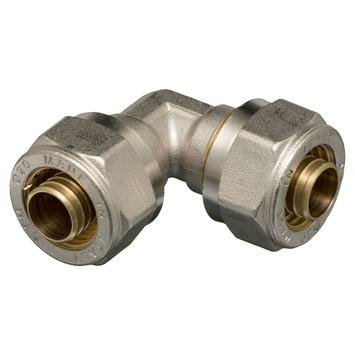 Levica koppeling haaks VPE-c watertoevoer sanitair 20x20-2,8 mm
