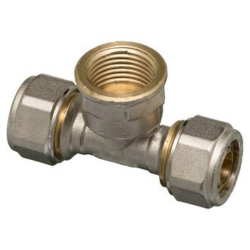 """Levica T-koppeling VPE-c watertoevoer sanitair 16-2,2 mm x 1/2"""""""
