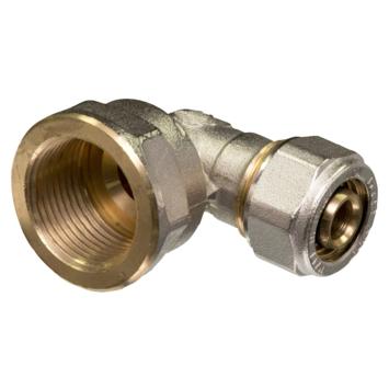 """Levica Superpipe koppeling haaks sanitair en CV 3/4""""F x 16 mm"""