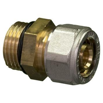 "Levica koppeling recht O-ring watertoevoer sanitair en CV 1/2""M x 16 mm 2 stuks"