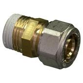 """Raccord droit Levica Superpipe pour CC et sanitaire 1/2""""Mx16 mm 4 pièces"""