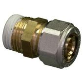 """Raccord droit Levica Superpipe pour CC et sanitaire 1/2""""Mx16 mm 2 pièces"""