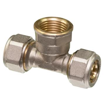 """Levica Superpipe T-koppeling watertoevoer sanitair en CV 16 x 1/2""""F x 16-2 mm"""