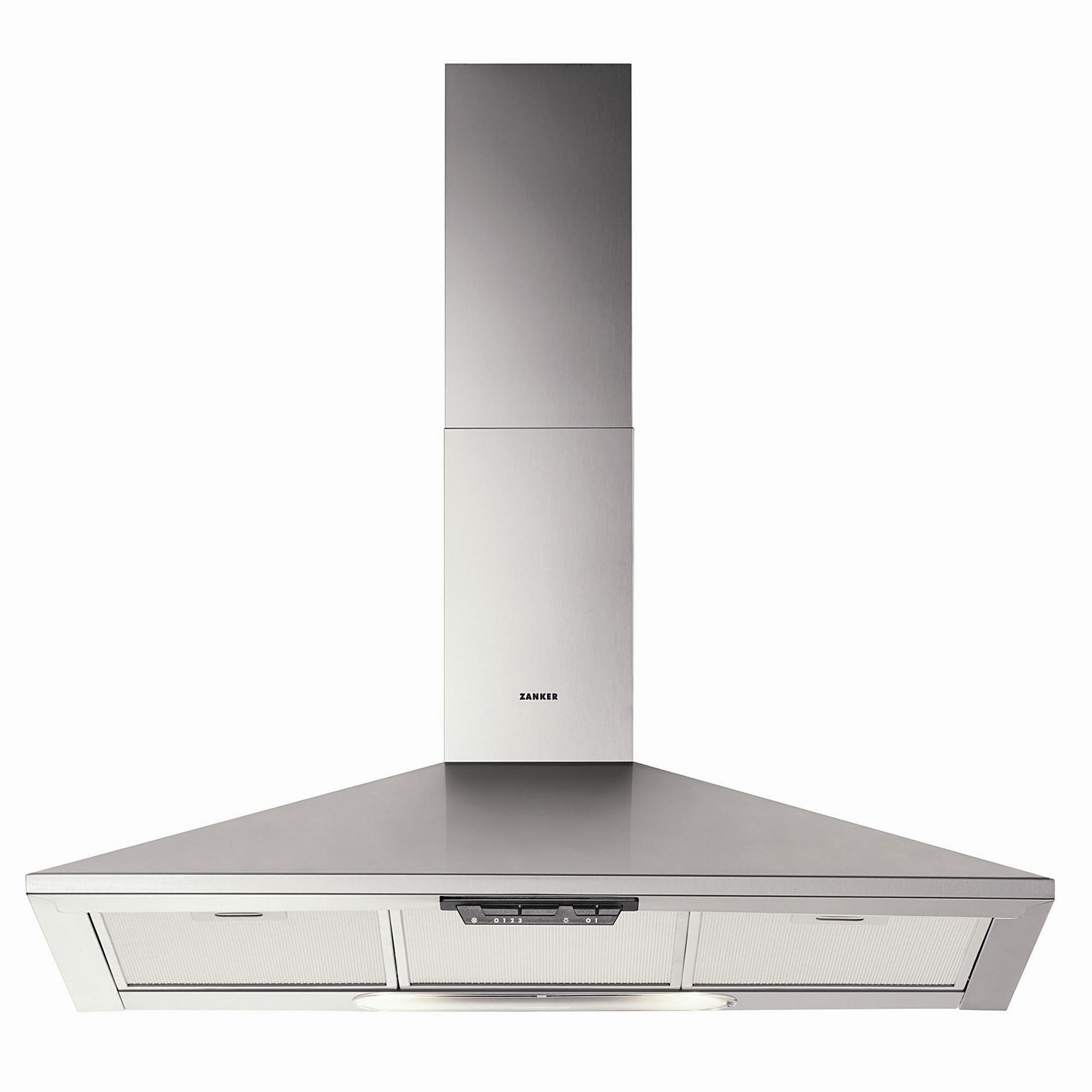 hotte chemin e zkc9141x zanker 90 cm inox hottes electrom nager cuisines. Black Bedroom Furniture Sets. Home Design Ideas