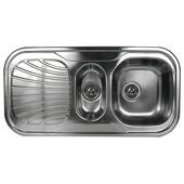 Van Marcke Millenium spoeltafel met korfplug 100x50 cm 1 1/2 bak met afdruip inox