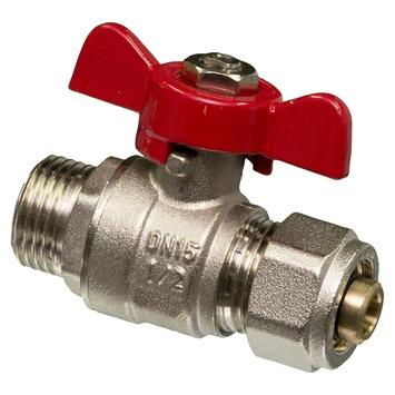 """Robinet boule passage intégral Levica Superpipe pour CC et sanitaire 1/2""""Mx16-2 mm"""