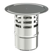 Chapeau Saninstal inox pour poêle à pellets ø80 mm