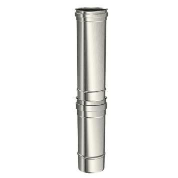 Saninstal buis regelbaar voor pellet inox 35-55 cm x ø80 mm