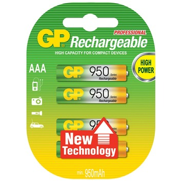 Pile rechargeable GP AAA nimh 1000 mah 4 pièces