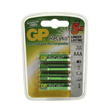 Pile rechargeable GP Re AAA 820 mah 4 pièces