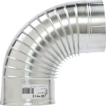 Burgerhout bocht 90 graden enkelwandig aluminium ø150 mm