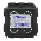 Boîtier d'encastrement mur plein Helia 60x60x50 mm combinable noir