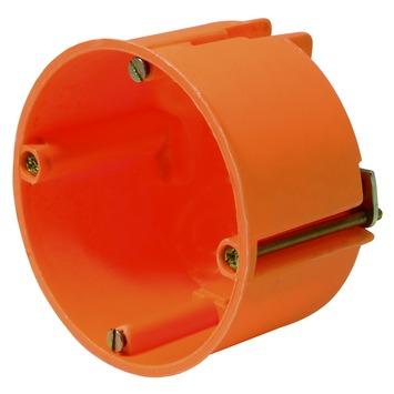 Helia inbouwdoos holle wand enkelvoudig oranje