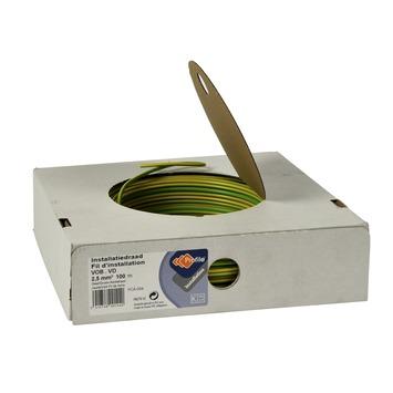 Fil d'installation VOB 2,5mm vert-jaune 100 m