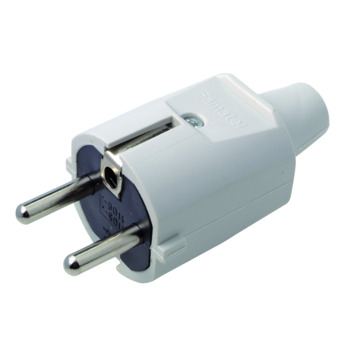 Profile stekker 2-polig 16 A grijs 3x1,5 mm²