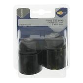 Culot E27 Profile noir 2 pièces