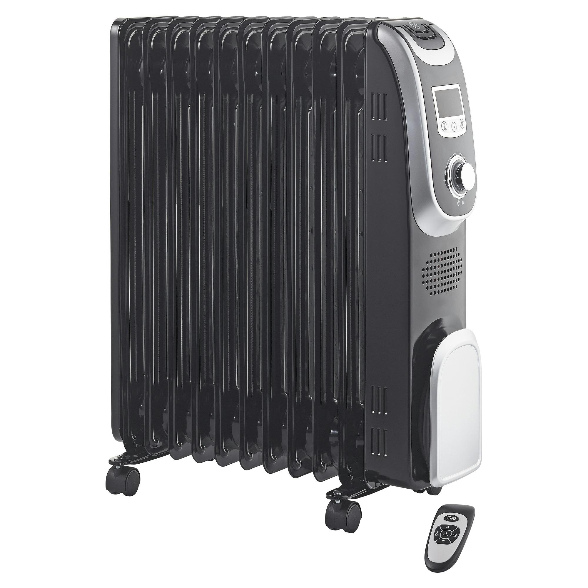 Handson oliegevulde radiator 2300 W zwart met display